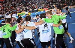 German team celebrating at qualification match for  Euro 2010 in Austria between national teams of Slovenia and Germany, Group 5, on November 2, 2008 in Arena Zlatorog, Celje, Slovenia. (Photo by Vid Ponikvar / Sportal Images)/ Sportida