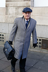 © Licensed to London News Pictures. 25/02/15 Football agent Tony McGill at the start of the court case in Newcastle Upon Tyne brought by himself against Bolton Chairman Phil Gartside and Ex Liverpool star Sammy Lee amongst others in an alleged £1million fraud case. Photo credit : John Millard/LNP