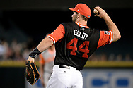 PHOENIX, AZ - AUGUST 27:  Paul Goldschmidt #44 of the Arizona Diamondbacks wearing a nickname-bearing jersey in action against the San Francisco Giants at Chase Field on August 27, 2017 in Phoenix, Arizona.  (Photo by Jennifer Stewart/Getty Images)