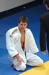 19-03-2006 JUDO: DUTCH OPEN: ROTTERDAM<br /> Dennis Huck (GER) verliest van Mehman Azizov uit Azerbeidzjan <br /> Copyrights: WWW.FOTOHOOGENDOORN.NL