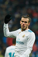 Gareth Bale (midfielder; Real Madrid) in action during La Liga match between Real Madrid and Villareal CF at Santiago Bernabeu on January 13, 2018 in Madrid