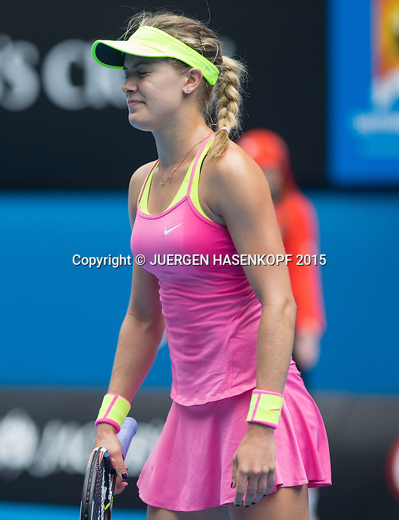 Eugenie Bouchard (CAN)<br /> <br /> Tennis - Australian Open 2015 - Grand Slam ATP / WTA -  Melbourne Olympic Park - Melbourne - Victoria - Australia  - 25 January 2015.