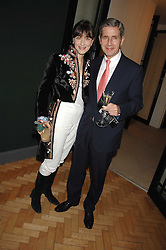 GEORGIA COLERIDGE and STUART ROSE at a party to celebrate the 60th anniversary of House & Garden magazine held at Bonhams, 101 New Bond Street, London on 4th October 2007.<br /><br />NON EXCLUSIVE - WORLD RIGHTS