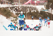 PYEONGCHANG-GUN, SOUTH KOREA - FEBRUARY 11: Calle Halfvarsson of Sweden during the Mens Skiathlon 15km+15km Cross-Country Skiing on day two of the PyeongChang 2018 Winter Olympic Games  at Alpensia Cross-Country Centre on February 11 in Pyeongchang-gun, South Korea. Photo by Nils Petter Nilsson/Ombrello               ***BETALBILD***