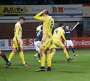 Hearts&rsquo; Callum Paterson despair after heading into his own net to gift Dundee an injury time winner Dundee v Hearts in the Ladbrokes Scottish Premiership at Dens Park, Dundee. Photo: David Young<br /> <br />  - &copy; David Young - www.davidyoungphoto.co.uk - email: davidyoungphoto@gmail.com
