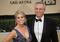 January 21, 2018 - Los Angeles, California, U.S - Cheryl Hines and Robert F. Kennedy at the red carpet of the 24th Annual Screen Actors Guild Awards held at the Shrine Auditorium in Los Angeles, California, Sunday January 21, 2018. (Credit Image: © Prensa Internacional via ZUMA Wire)