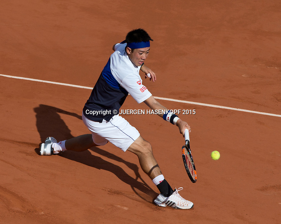 Kei Nishikori (JPN)<br /> <br /> Tennis - French Open 2015 - Grand Slam ITF / ATP / WTA -  Roland Garros - Paris -  - France  - 2 June 2015.