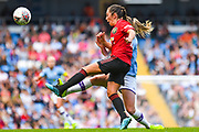 Manchester United Women midfielder Katie Zelem (10) clears during the FA Women's Super League match between Manchester City Women and Manchester United Women at the Sport City Academy Stadium, Manchester, United Kingdom on 7 September 2019.