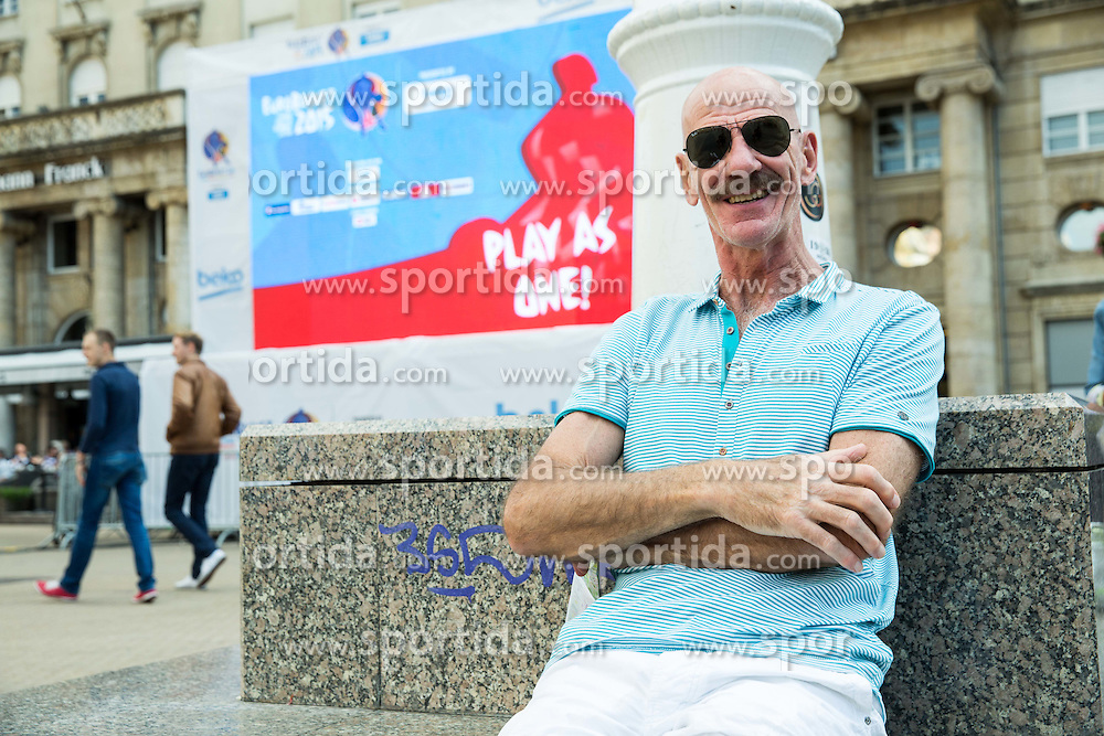 Toon van Helfteren, head coach of Netherlands resting at Ban Jelacic Square during Day Off in Group C of FIBA Europe Eurobasket 2015, on September 7, 2015, in Zagreb, Croatia. Photo by Vid Ponikvar / Sportida