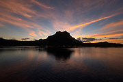 Sunrise, Bora, Bora, French Polynesia, South Pacific