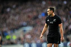 Israel Dagg of New Zealand looks on - Photo mandatory by-line: Patrick Khachfe/JMP - Mobile: 07966 386802 08/11/2014 - SPORT - RUGBY UNION - London - Twickenham Stadium - England v New Zealand - 2014 QBE Internationals