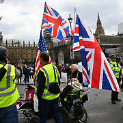 London, UK, 12 April 2019: Protest of Forced adoption, Yellow Vests, Brexit, Make Britain Great Again and Free Assange Protesters says Everything is wrong in this country, UK.