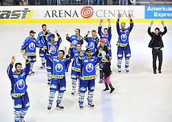 04.03.2010, Dom sportova, Zagreb, CRO, EBEL, KHL Medvescak Zagreb vs Graz 99ers, im Bild Jubel von Zagreb. EXPA Pictures © 2010, PhotoCredit: EXPA/ PIXSELL/ Antonio Bronic / SPORTIDA PHOTO AGENCY