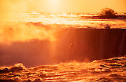 Niagara Falls. Horseshoe Falls seen from the Canadian side at sunrise.