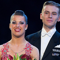 23 January 2010: Katarzyna Czyzyk and Mateusz Papuzynski are seen during the Masters Bercy Latin and Ballroom (standard) Dancesport Championship 2010, at Palais Omnisports Paris Bercy, in Paris, France. .