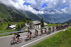 June 16, 2017 - Locarno / La Punt, Schweiz - Illustration picture of the peloton Landscape Bunch Postcard Post card Paysage Carte Postale landschap briefkaart , VAN AVERMAET Greg (BEL) Rider of BMC Racing Team during stage 6 of the Tour de Suisse cycling race, a stage of 166 kms between Locarno and La Punt on June 15, 2017 in La Punt, Switserland, 15/06/2017  (EQ Images) SWITZERLAND ONLY (Credit Image: © Vincent Kalut/EQ Images via ZUMA Press)