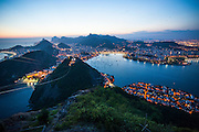 View from the Sugarloaf at sunset, Rio de Janeiro