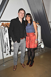 JOANNA NICOLA and LEE PEARS at a party to launch pop-up store Oxygen Boutique, 33 Duke of York Square, London SW3 on 8th February 2011.