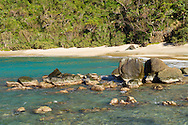 Giant boulders add a cove to Stumpy Bay on the northside of St. Thomas, USVI.
