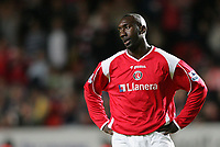 Photo: Lee Earle.<br /> Charlton Athletic v Tottenham Hotspur. The Barclays Premiership. 07/05/2007.Charlton's Jimmy-Floyd Hasselbaink looks dejected after Tottenham scored their second.