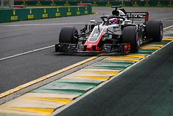 March 24, 2018 - Melbourne, Victoria, Australia - GROSJEAN Romain (fra), Haas F1 Team VF-18 Ferrari, action during 2018 Formula 1 championship at Melbourne, Australian Grand Prix, from March 22 To 25 - s: FIA Formula One World Championship 2018, Melbourne, Victoria : Motorsports: Formula 1 2018 Rolex  Australian Grand Prix, (Credit Image: © Hoch Zwei via ZUMA Wire)