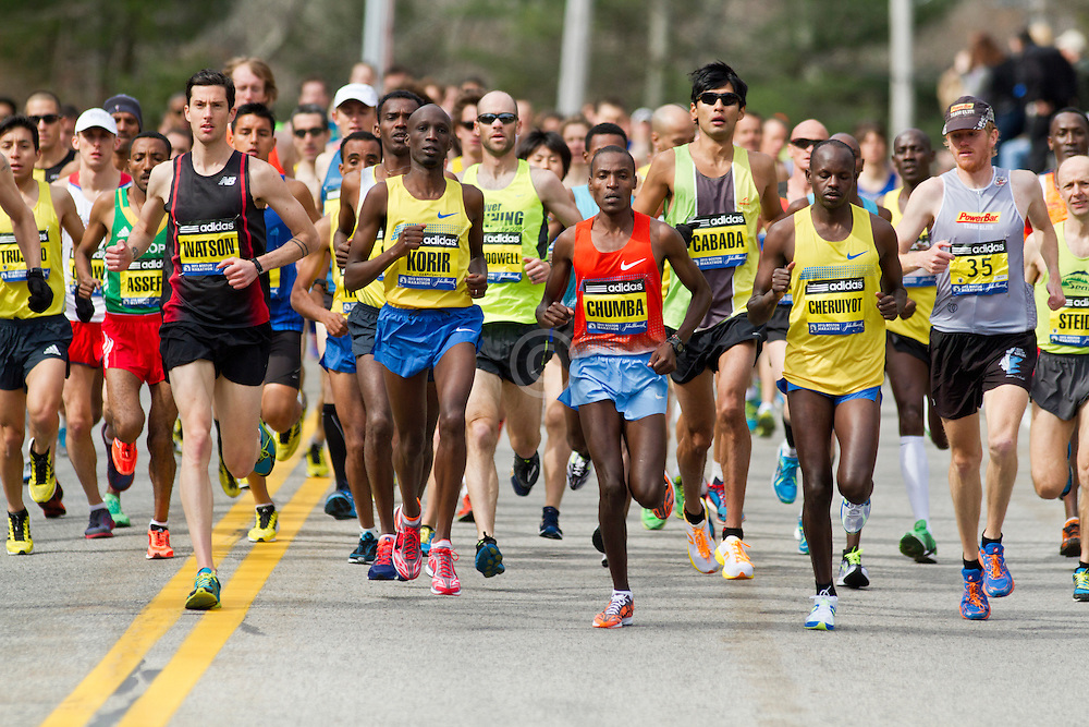 2013 Boston Marathon: elite men start