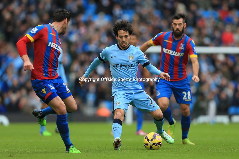 20th December 2014 - Barclays Premier League - Manchester City v Crystal Palace - David Silva of Man City - Photo: Simon Stacpoole / Offside.