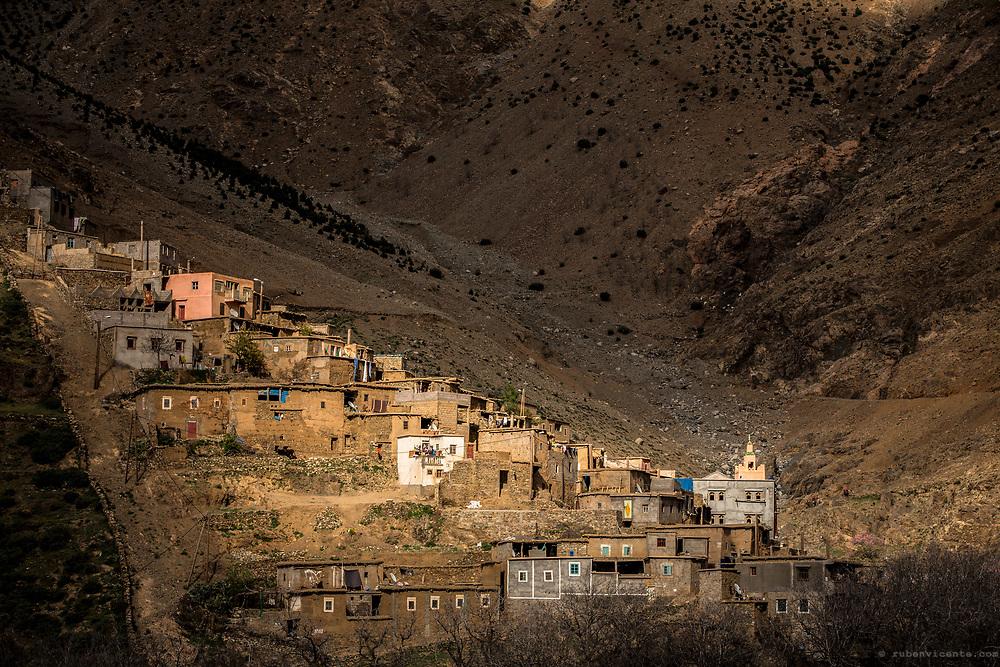 Typical village in Morocco Atlas. Morocco