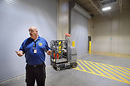 Grid Incident Manager Walter Grunder shows the unloading area for prisoners during a tour through the newest prison in Pennsylvania Friday, September 01, 2017 at State Correction Institution Phoenix in Skippack, Pennsylvania. The facility is inching closer to opening, two years late, to replace Graterford Prison at a cost of $400 million. (Photo by William Thomas Cain/CAIN IMAGES)