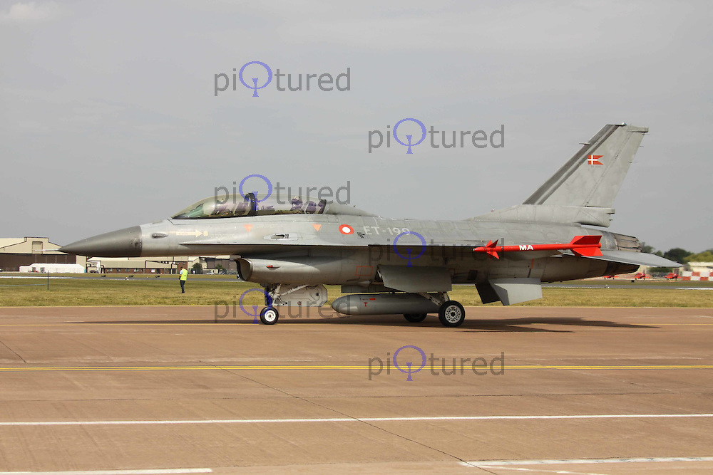 F-16 Danish Air Force The Royal International Air Tattoo, RAF Fairford, UK, 15 July 2011:  Contact: Rich@Piqtured.com +44(0)7941 079620 (Picture by Richard Goldschmidt)