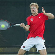 18 January 2017: San Diego State Aztecs men's tennis takes on #20 Mississippi St at the Aztec Tennis Center Saturday afternoon. www.sdsuaztecphotos.com