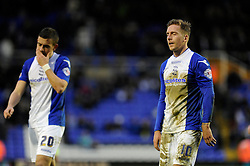 Birmingham City's Brain Howard cuts a dejected figure after losing 0 - 2 to Yeovil Town - Photo mandatory by-line: Dougie Allward/JMP - Tel: Mobile: 07966 386802 18/01/2014 - SPORT - FOOTBALL - St Andrew's Stadium - Birmingham - Birmingham City v Yeovil Town - Sky Bet Championship