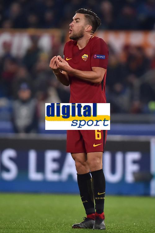 Kevin Strootman Roma <br /> Roma 05-12-2017 Stadio Olimpico Uefa Champions League A 2017/2018 Group C AS Roma - Qarabag Foto Andrea Staccioli / Insidefoto