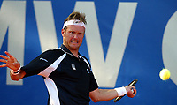 Jan Forde Andersen (Norway) in action against Mikhail Youzhny (Russia) during the 1st Round of the BMW Open in Munich, Germany. Tuesday, 29th April, 2003.<br /><br />Pic by David Rawcliffe/Propaganda<br /><br />Any problems call David Rawcliffe on +44(0)7973 14 2020 or email david@propaganda-photo.com - http://www.propaganda-photo.com