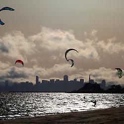 Windsurfing and the San Francisco Skyline