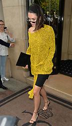 kendall jenner seen leaving her hotel in Paris <br /><br />4 July 2017.<br /><br />Please byline: PalaceLee/Vantagenews.com