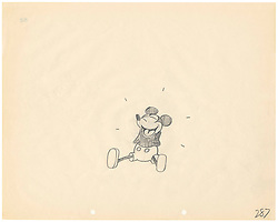 Embargoed until 0001 Friday November 23. No Online use until Friday November 23..SKETCH OF MICKEY MOUSE FROM HIS FIRST EVER CARTOON RELEASED. A rare and unique sketch of Mickey Mouse from 1928 and his first ever cartoon Steamboat Willie has been released by Disney to celebrate the release of video game Epic Mickey 2: the Power Two.  For one weekend only (23rd to 25th November)  the sketch and other unique Disney sketches will be on display at a pop up gallery in Westfield Stratford. Thursday November 22, 2012.