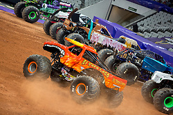 December 16, 2017 - Sao Paulo, Sao Paulo, Brazil - El Toro Loco in action during a round of racing. Monster Jam was held at Corinthians Stadium, in Sao Paulo, Brazil. (Credit Image: © Paulo Lopes via ZUMA Wire)