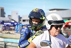 November 28, 2018 - Jerez, CADIZ, Spain - Valentino Rossi crash during the Moto GP Test in Circuito de Jerez, Jerez de la Frontera, Spain. Nov. 28th 2018. (Credit Image: © AFP7 via ZUMA Wire)