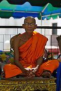 Buddhist Monk at Wat Khunaram.