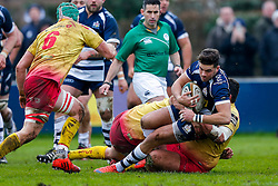 Bristol Rugby Inside Centre Ben Mosses is tackled - Mandatory byline: Rogan Thomson/JMP - 17/01/2016 - RUGBY UNION - Clifton Rugby Club - Bristol, England - Scarlets Premiership Select XV v Bristol Rugby - B&I Cup.