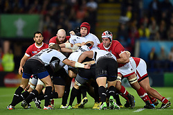 Romania and Canada forwards in action at a maul - Mandatory byline: Patrick Khachfe/JMP - 07966 386802 - 06/10/2015 - RUGBY UNION - Leicester City Stadium - Leicester, England - Canada v Romania - Rugby World Cup 2015 Pool D.