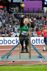 22/07/2017 : Diedre Mognan (IRL), F53, Women's Shot Put, at the 2017 World Para Athletics Championships, Olympic Stadium, London, United Kingdom