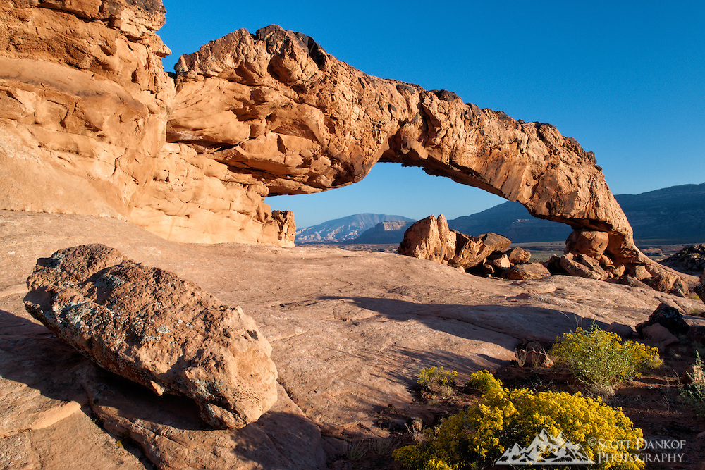 Late afternoon at Sunset Arch. Located off Hole In Rock Road, near Escalante Utah.