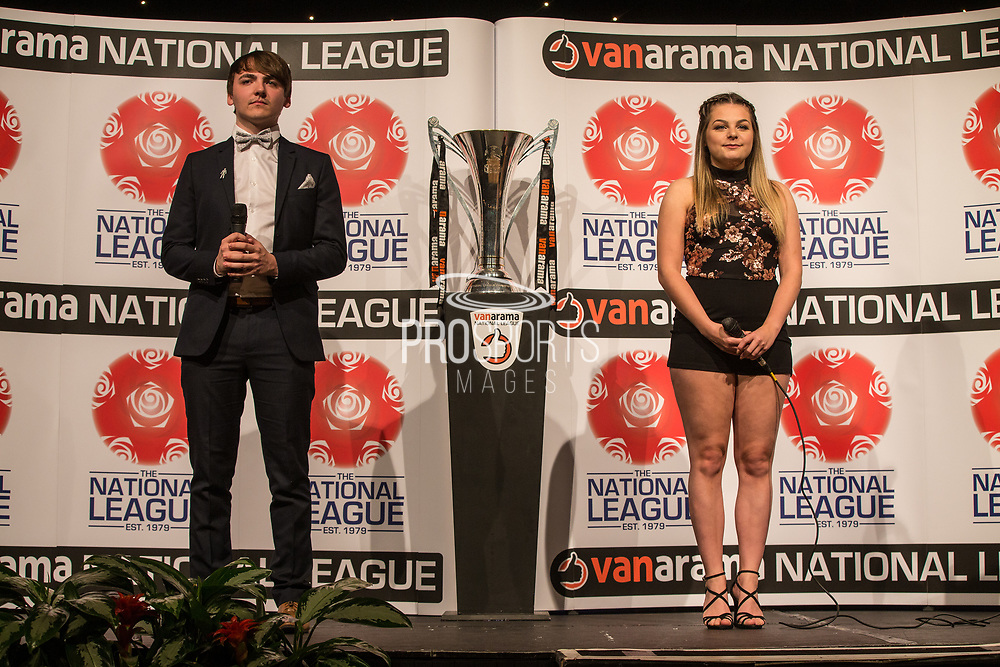 Luke Race and Beth Rosamund during the National League Gala Awards Evening at Celtic Manor Resort, Newport, South Wales on 9 June 2018. Picture by Shane Healey.