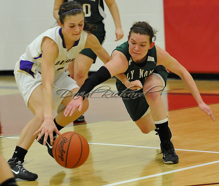 Vermilion vs. Holy Name girls varsity basketball on February 21, 2011.