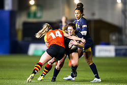 Megan Varley of Worcester Warriors Women is tackled by Sophie Pascall of Richmond Women - Mandatory by-line: Robbie Stephenson/JMP - 11/01/2020 - RUGBY - Sixways Stadium - Worcester, England - Worcester Warriors Women v Richmond Women - Tyrrells Premier 15s