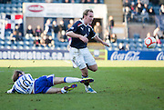 Dundee's Gary Irvine goes past Kilmarnock's James Dayton - Dundee v Kilmarnock, William Hill Scottish FA Cup 4th Round,..- © David Young - .5 Foundry Place - .Monifieth - .DD5 4BB - .Telephone 07765 252616 - .email; davidyoungphoto@gmail.com - .web; www.davidyoungphoto.co.uk.