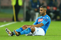 November 1, 2017 - Naples, Italy - Faouzi Ghoulam of Napoli after suffering a knee injury during the UEFA Champions League football match Napoli vs Manchester City on November 1, 2017 at the San Paolo stadium in Naples. Manchester City won 2-4. (Credit Image: © Matteo Ciambelli/NurPhoto via ZUMA Press)