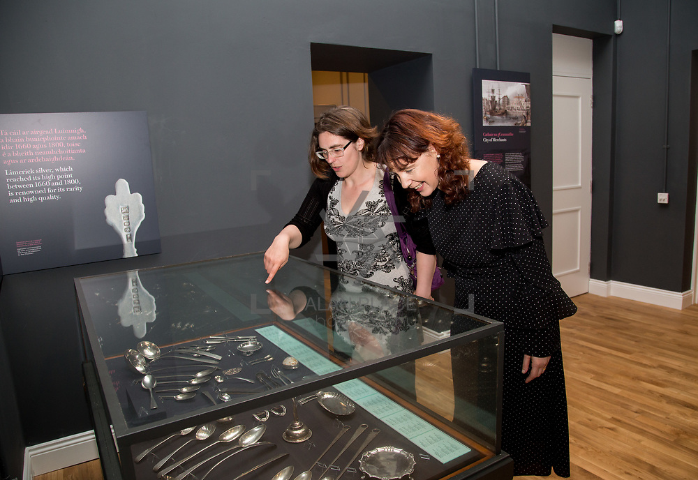30.05. 2017.                                             <br /> Limerick Museum opened the doors to its new home at the former Franciscan Friary on Henry Street in the heart of Limerick city, dedicated to the memory of Jim Kemmy, the former Democratic Socialist Party and Labour Party TD for Limerick East and two-time Mayor of Limerick.<br /> <br /> Pictured at the opening were, Jackie Hayes and Sharon Slator,  of Limerick City and County Council.<br /> <br /> The museum will house one of the largest collections of any Irish museum. Picture: Alan Place